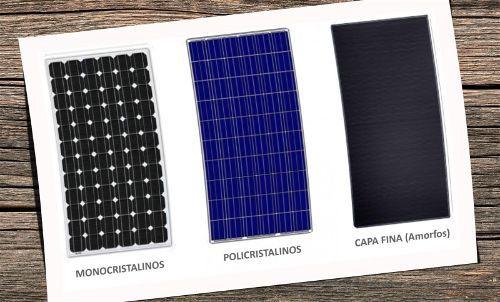 tipos de placas de silicio amorfo monocristalino policristalino